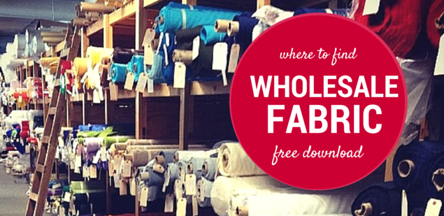 where to find wholesale fabric in small quantities without getting ripped off