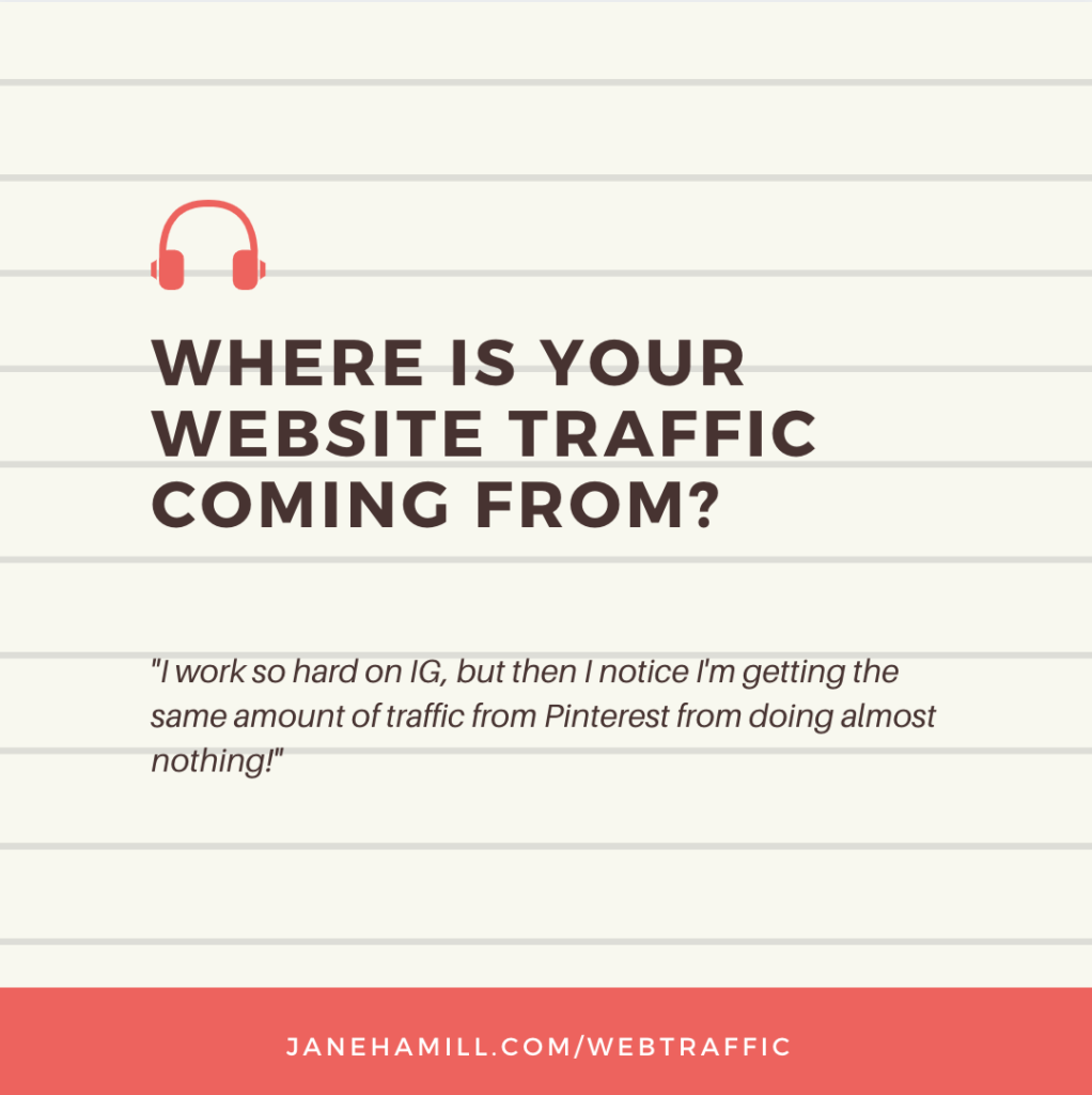 Where is your website traffic coming from?